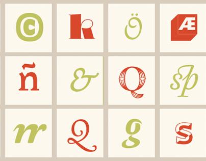 44 glyphs