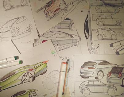 Bocetos vehículos / car sketching
