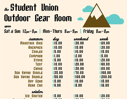 Student Union Outdoor Gear Room Graphic