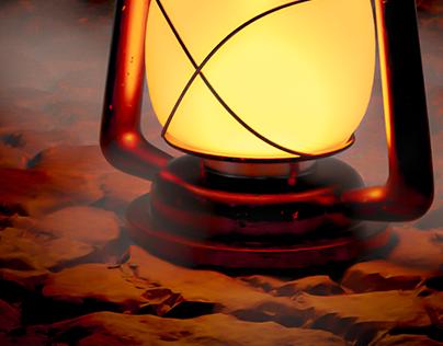 Old style lantern 3D