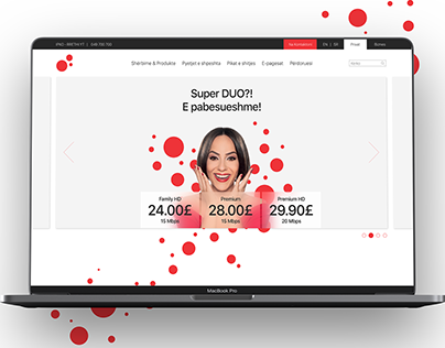IPKO TELECOMMUNICATIONS WEBSITE RE-DESIGN