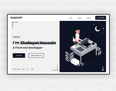 Front-end developer | Portfolio website