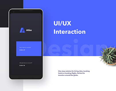 Atlas Mobile App UI Design