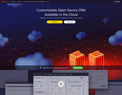 Landing page for EvoCRM