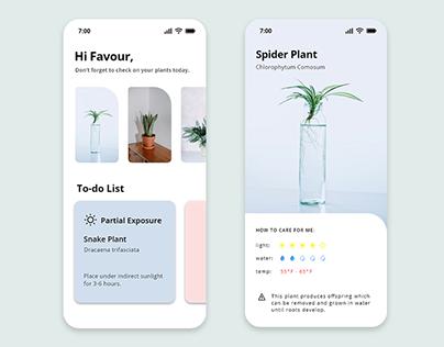 Plant Care App - UI Design