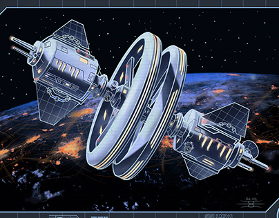 Illustration for The Ouroboros Universe - space station