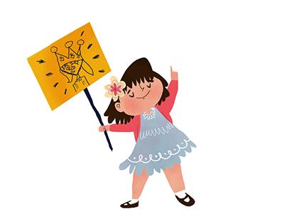 Animação/Ilustrações vídeo sobre infância