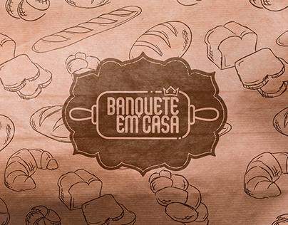 Banquete em casa | Logo [2021]