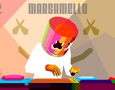 Marshmello in WPAP Art