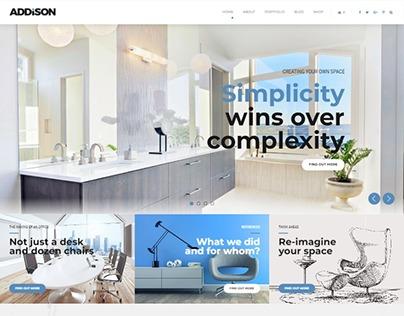 Addison – Interior Design & Decoration WordPress Theme