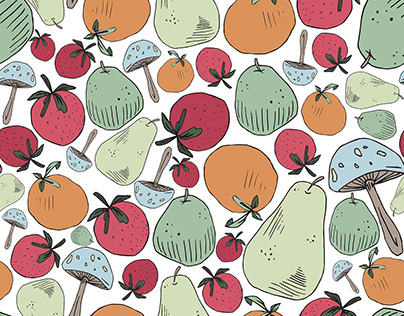 Digital Pattern Collection - Playful Fruits