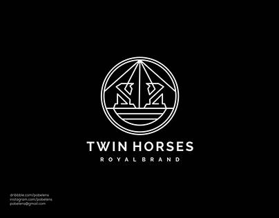 Twin Horses Logo
