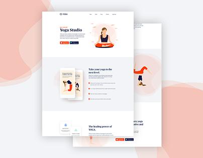 Yoga Studio Landing Page.