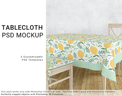 NEW FOR CREATIVE MARKET 15 TABLECLOTH