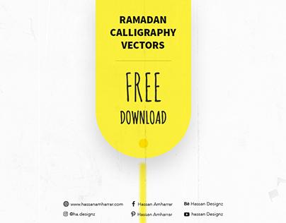Ramadan Calligraphy Vectors - Free Download