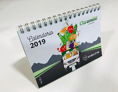 Maquetación e ilustración de calendario de mesa