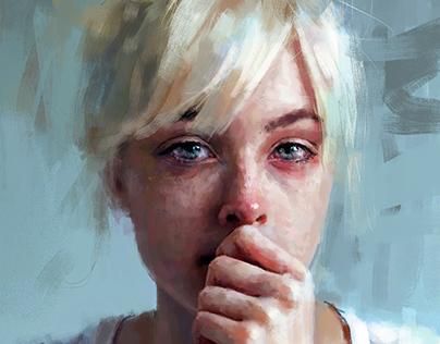crying portrait