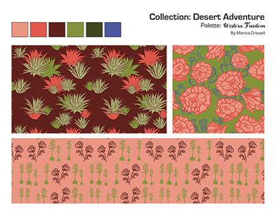 Desert Adventure surface pattern and textile design