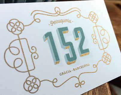 "Visual identity for ""152"" hair salon - Barcelona"