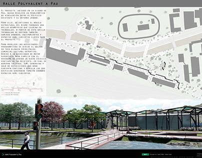 Proyecto Arquitectónico I - Halle Polyvalent a Pau 2017