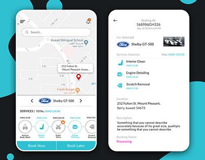 Mobile app UIUX design for a Car wash Services