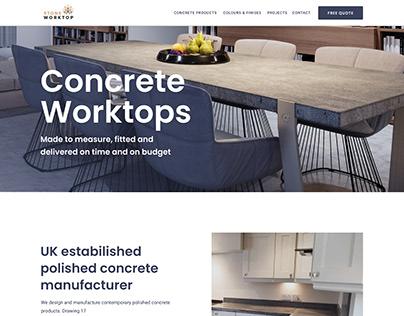 Website design & webflow dev for stoneworktop.co.uk