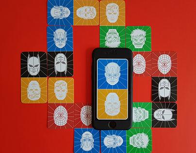 Superhero Domino Cards design