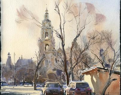 Motives of watercolor workshops 02.2020