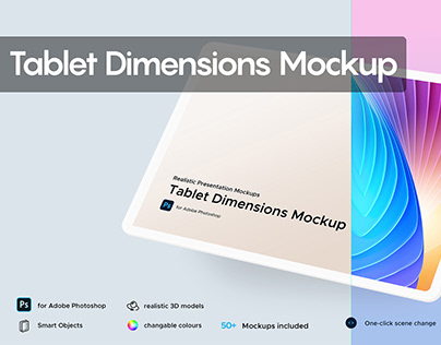 Tablet Dimensions Mockup