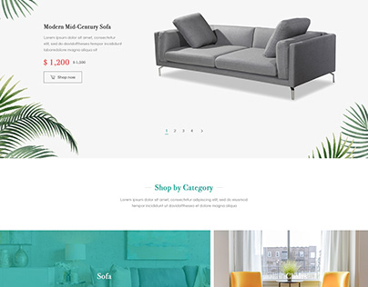 Website Design Layour For ROOMME.