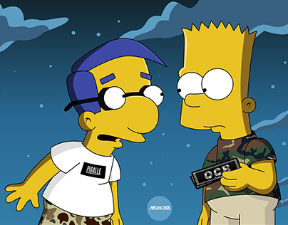 Bart Simpson & Milhouse x OCB