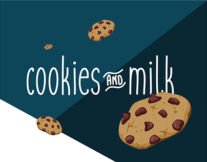 cookies and milk - A free handwritten font