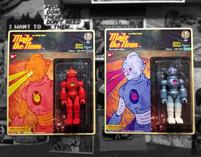 Mojo the Neon Retro Figure & Poster