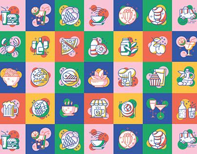 Good Street Food Festival - Illustration & Iconography