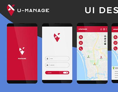 U-Manage UI Design