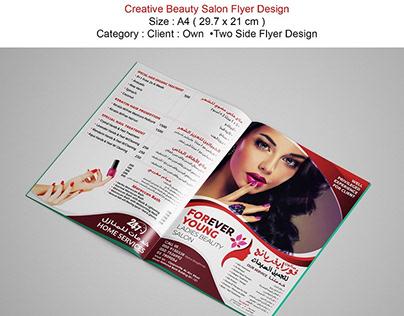 Awesome Beauty Salon Flyer Design