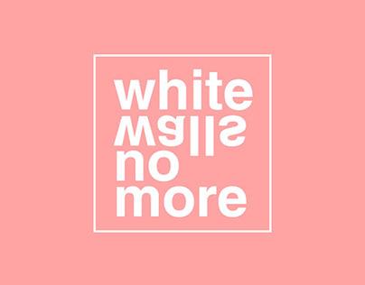WhiteWallsNoMore logo & branding for an etsy shop