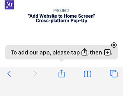 """Add Website to Home Screen"" Pop-Up"