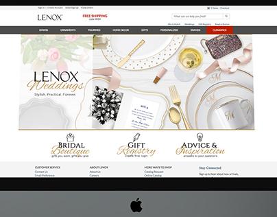 Lenox Wedding Experience Website (2017)