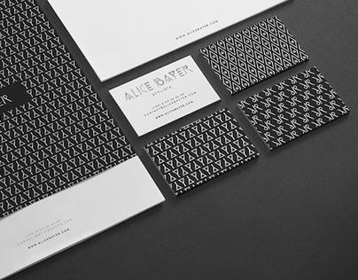 Alice Bayer - Fashion Designer Identity System