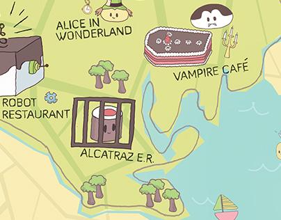 Tokyo Illustrative Map