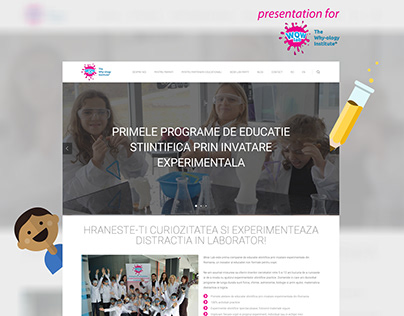 Website for Wow Lab - The Why-ology Institute