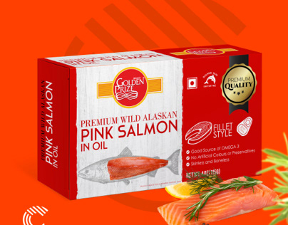 Packaging Design for Golden Prize Salmon