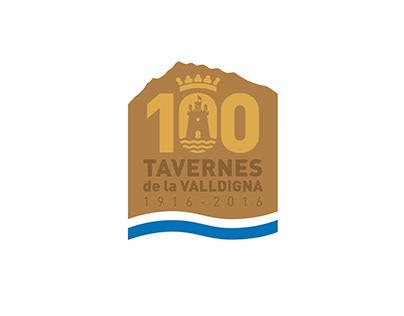 Logotipo Centenario Tavernes de la Valldigna
