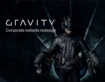 Gravity Industries — corporate redesign concept