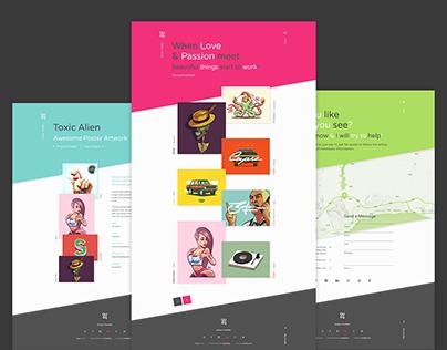 Qusq Pro - Flat Colorful Portfolio WordPress Theme