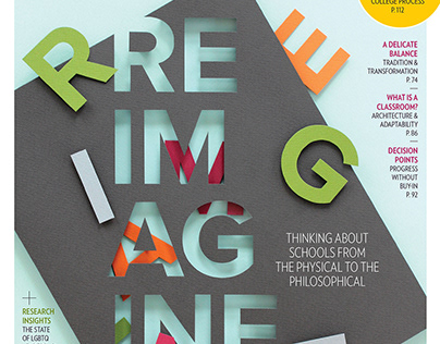 Independent School Magazine cover and feature art