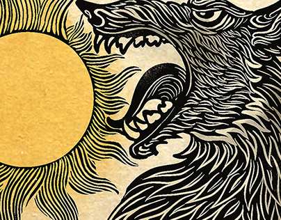 Wolf and sun