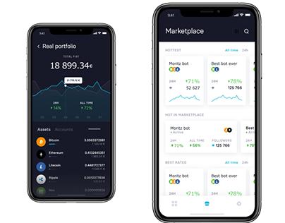Bot Trading Mobile App Prototype