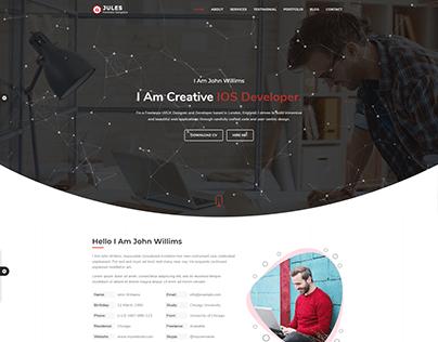 Jules-Creative personal portfolio website
